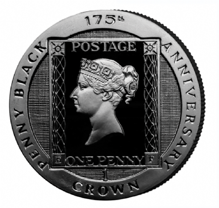 Isle of Man Penny Black 175th Anniversary Crown